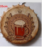 Tin SignBEERVintage Iron Painting Beer Cover Bar KTV Hanging Ornaments Decor Retro Mural Poster Metal Wall Stickers