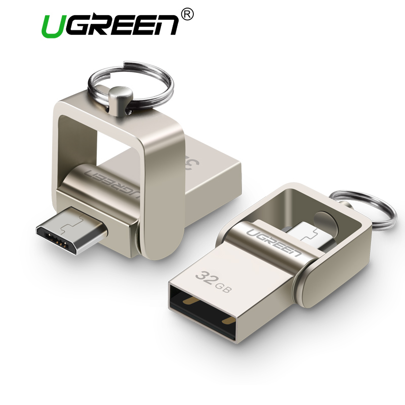 Ugreen USB Flash Drive Micro USB OTG Pendrive 64 32 GB For Xiaomi Redmi Note 5 Redmi 5 Plus 4X Phone Memory Stick Card USB Flash ip camera xiaomi charger adapter 5v 1a white power adapter micro usb data sync cable for redmi 4 4a 4x note 3 4 4x 5 xiao mi