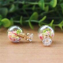 2015 nouvelle marque de mode jewery élégant double imitation perle boucles d'oreilles pour les femmes fleurs lunettes balle canal cc boucles d'oreilles(China (Mainland))