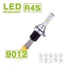 1 Set 9012 HIR2 90W 10400LM R4S LED Headlight Super Slim Conversion Kit Fanless 3K 4