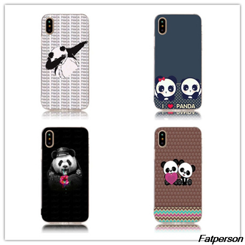 Panda Dab Life Hard Transparent Phone Case Cover Shell For Apple iPhone 7 7plus 8 8plus