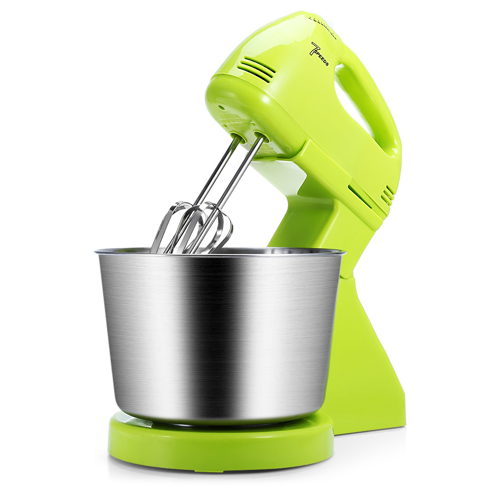 2 In 1 180W 7-Speed Kitchen Electric Portable Blender Stand Hand Mixer For Bread Egg Dough Multi Function Immersion Blenders