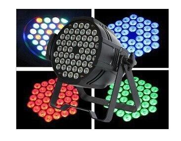 54x1W RGBW Quad Colors Led Stage Par64 Light High Power With DMX512 Master Slave DJ Equipments Controller
