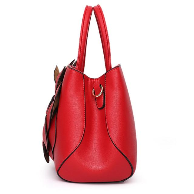 Nevenka Floral Handbags Women PU Leather Tote Bags Shoulder Bag Large Capacity Crossbody Bag for Girls