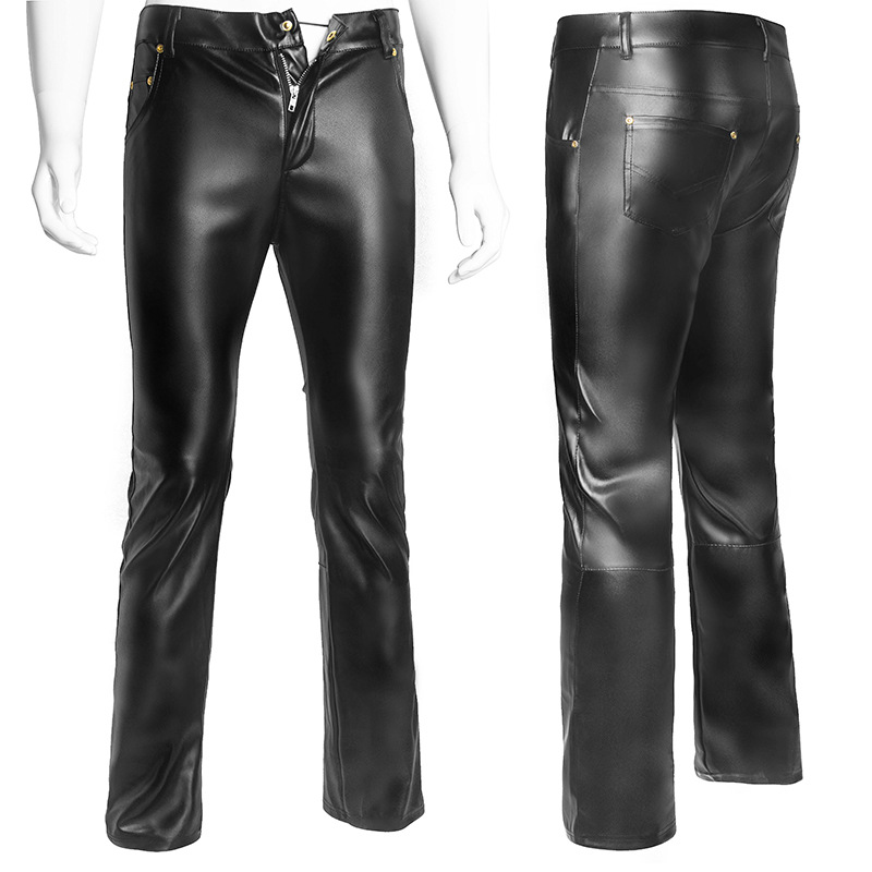 Buy Plus Size Sexy Lingerie Exotic Pants PU Latex Catsuit Zipper Stage Clubwear Exotic Pants Gay Mens Plus Big Size