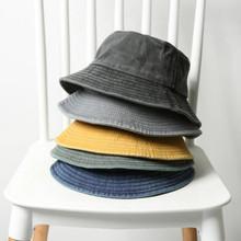Składany Denim kapelusz typu Bucket bawełna myte wędkarstwo polowanie Cap odkryty plaża rybak Panama kobiet kapelusz typu Bucket K Pop Bob Dropship tanie tanio Which in shower COTTON Dla dorosłych Unisex Mieszkanie Stałe AM190710-1 Wiadro kapelusze Na co dzień