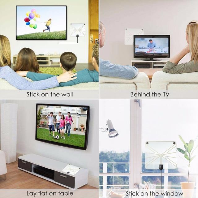 Gratuit TV Fox HD numérique DTV intérieure Active antenne de télévision amplificateur TVFox HDTV antenne DVB-T DVB-T2 VHF UHF ISDB ATSC DVB antenne