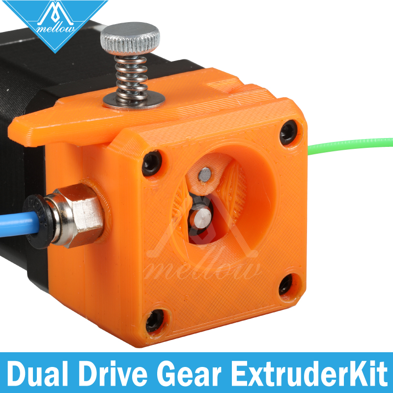 Mellow Drivegear Kit Hardened Dual Drive Gear Extruder Full Kit Cloned Btech For Prusa I3 3d Printer Mini Bowden Extruder