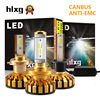 Hlxg Super Mini 12V H7 H4 H11 H1 Led Car Headlights Canbus Silent Fan 10000LM Set