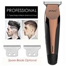 Tondeuse à cheveux professionnelle et électrique Rechargeable pour raser la barbe, outil de coupe à 0.1mm, pour hommes