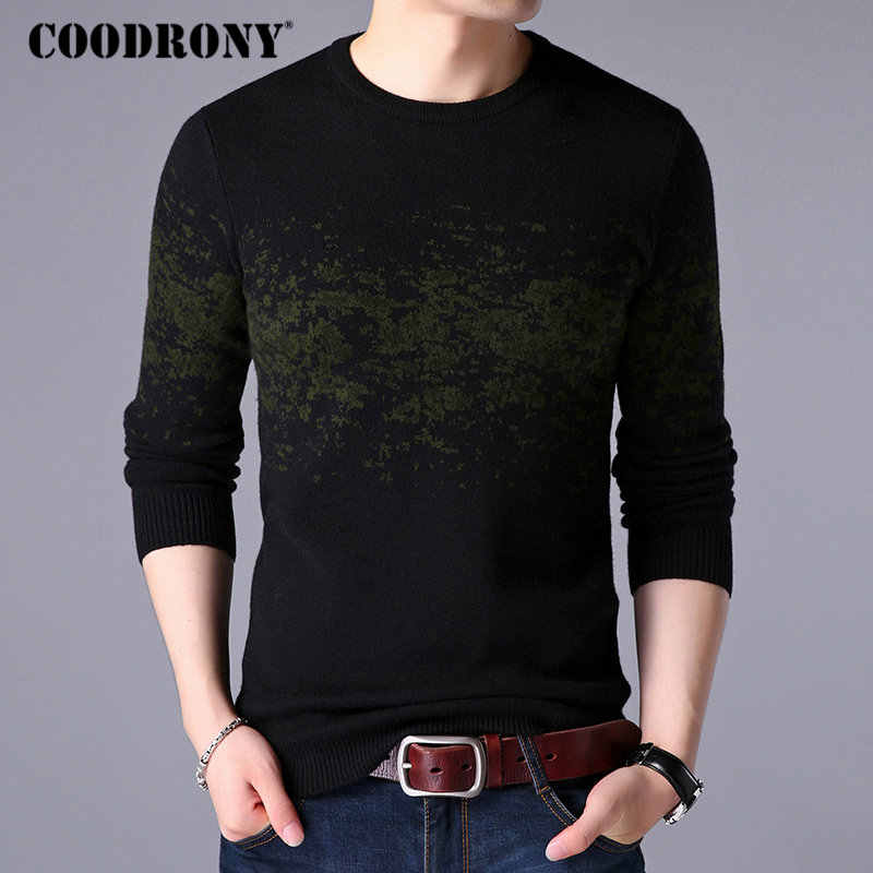 COODRONY Sweater Men Casual O-Neck Pullover Men Clothes 2019 Autumn Winter New Arrival Top Sost Warm Mens Cashmere Sweaters 8257
