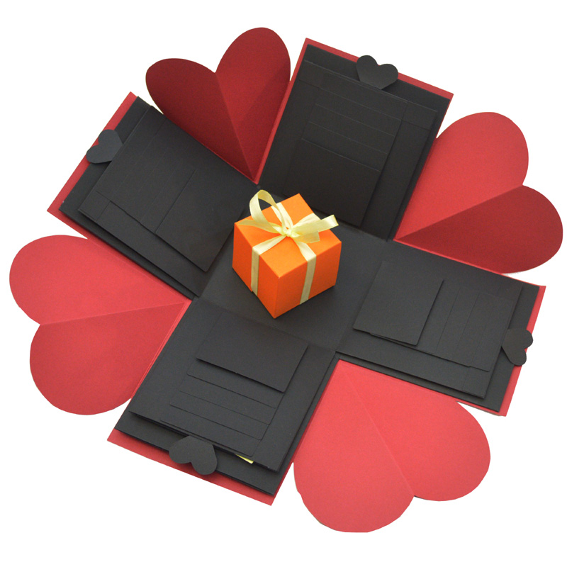 Us 11 94 29 Off Sulalin Diy Explosion Box Gift Wedding Paper Gift Box Explosion Surprise Box Love Happy Birthday Present Boxes Photo Album In Gift