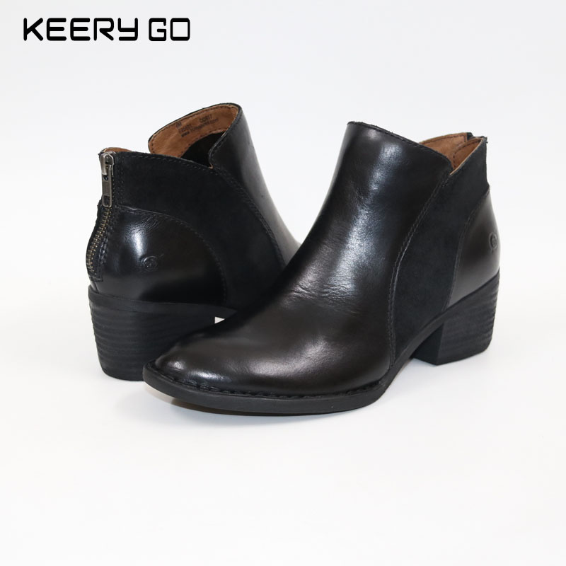 New high-end leather with minimalist fashion casual women's casual boots, comfortable feet цены