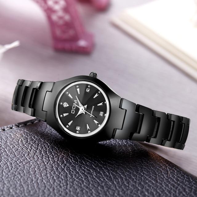 DOM Donne Della Vigilanza di Modo relogio feminino Vestono orologi al quarzo oro argento impermeabile bracciale In Acciaio Al Tungsteno orologi W-398BK-1M