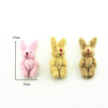 1Pcs 1/12 Dollhouse Miniature Accessories Mini Rabbit Simulation Miniature Animal Toy Furniture for Doll Home Decoration(China)