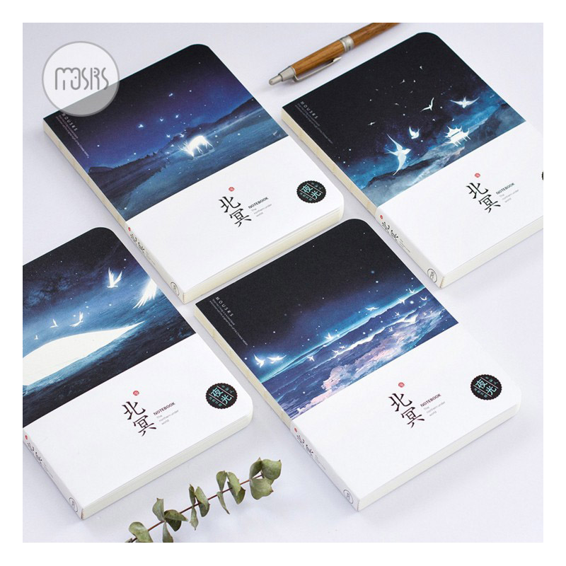 New Cute Sketchbook Watercolor Drawing School Diary Notebook Paper 80 Sheets Noctilucent luminous office School Supplies Gift