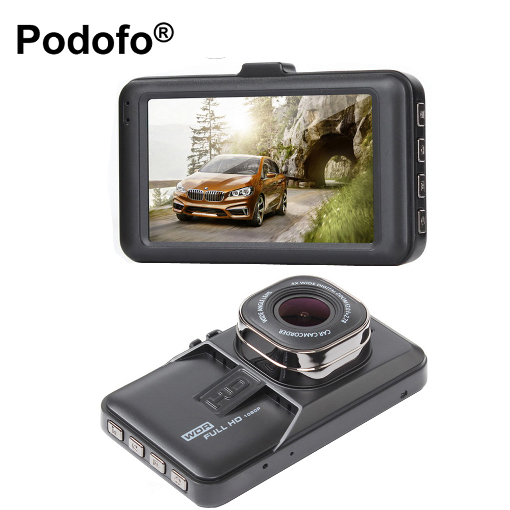 Original Podofo Car DVR Camera Camcorder 1080P WDR Registrator Parking Video Recorder DashCam Vehicle Camera FH06 Blakbox DVRs