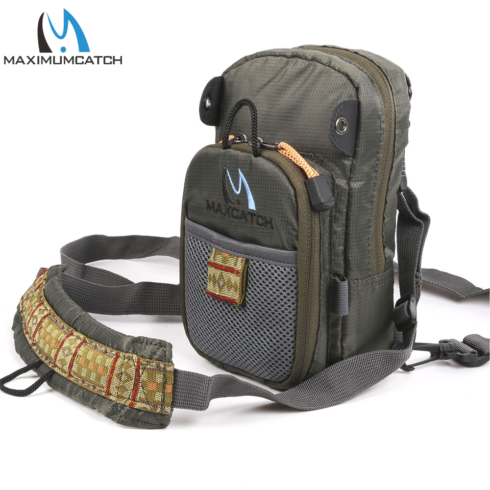 Maximumcatch Fly Fishing Bag Fishing Chest Pack Fly Bag With Five Fishing Tool Accessories 5sheets pack 10cm x 5cm holographic adhesive film fly tying laser rainbow materials sticker film flash tape for fly lure fishing