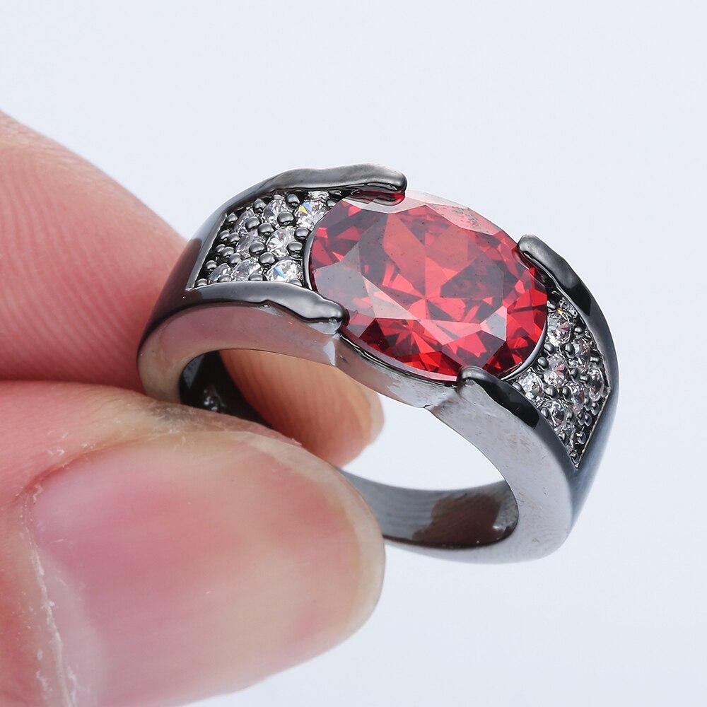 Vintage Fashion Jewelry Oval Cut Gemstone Blue Sapphire Ruby ...