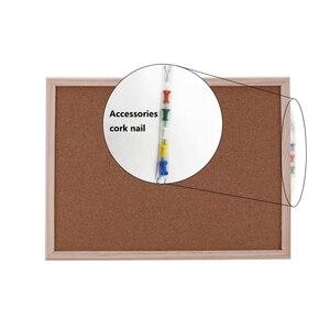 Image 3 - 1PCS cork message board 30*40cm board Cork needle Board Combination Drawing Board Pine Wood Frame