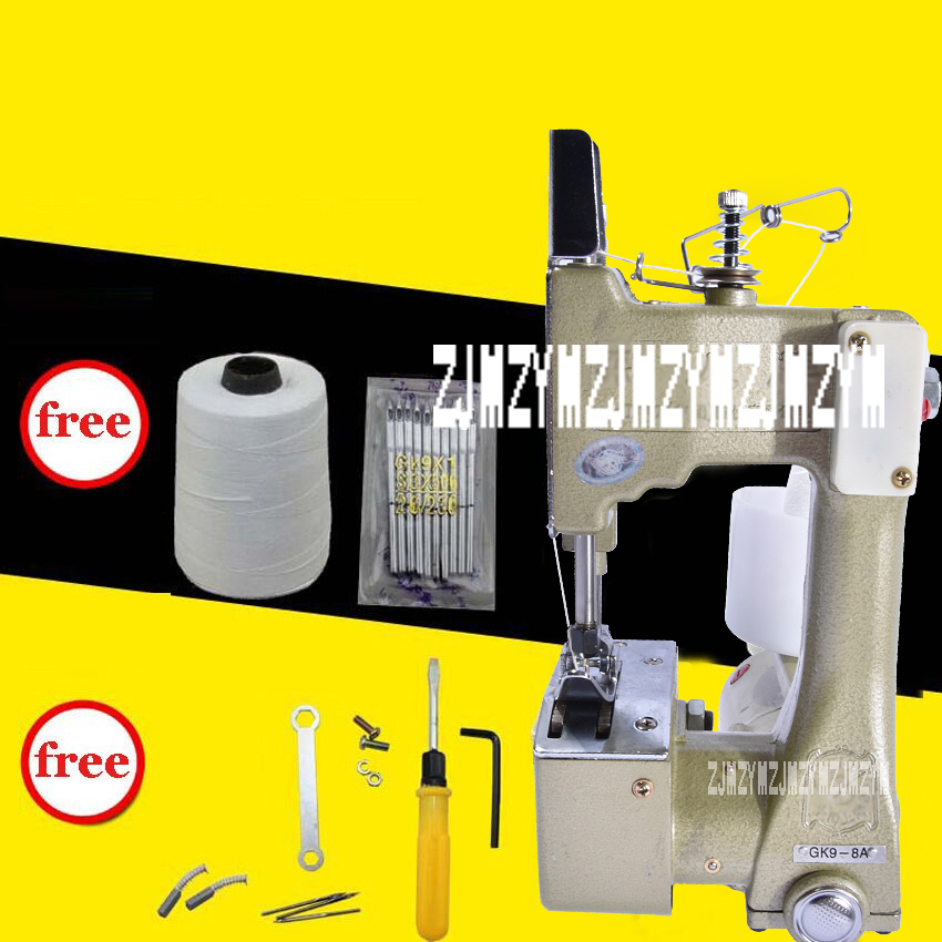 1PC GK9-8 Portable Manual sewing machines,Hand Packet machine,electrical portable sewing machine.rice bag seale manual sewing machine automatic tangent hand woven sewing machine hand packet sewing tool gk9 350