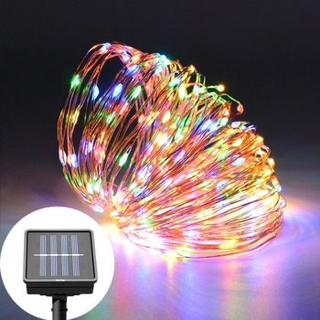 10M 20M Copper Wire Solar Power LED String Lights Chain Christmas Tree Garland Fairy Holiday Light  Garden Lawn Wedding Decor String Lights