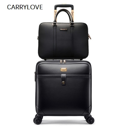 Private custom business trip travel16/18/20/22/24inch Pvc Handbag and Rolling Luggage Fashion, high quality Travel Suitcase