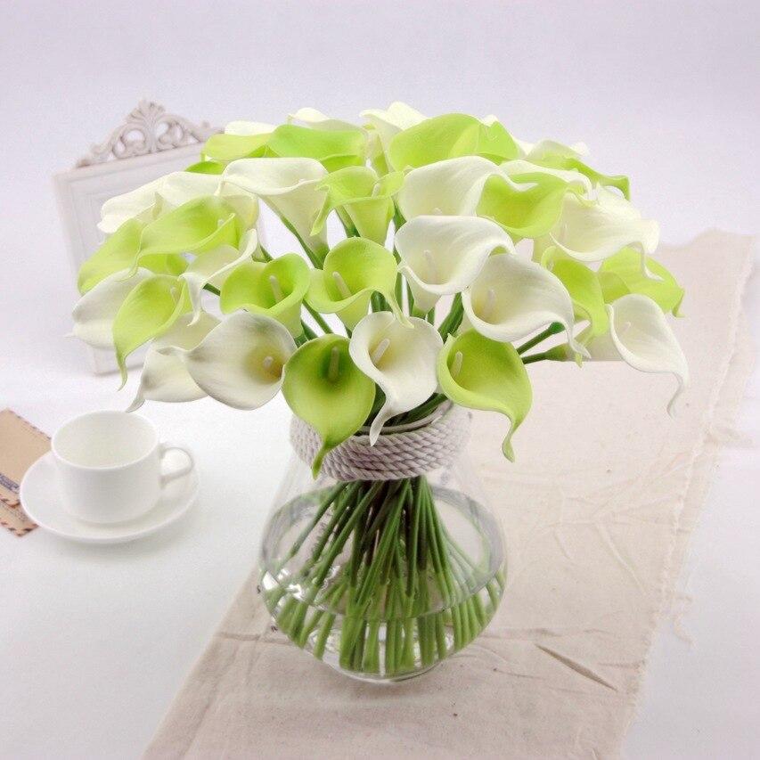 Acheter Fleurs artificielles calla pour la maison décoration PU fleurs 38 cm long de artificial flower calla fiable fournisseurs
