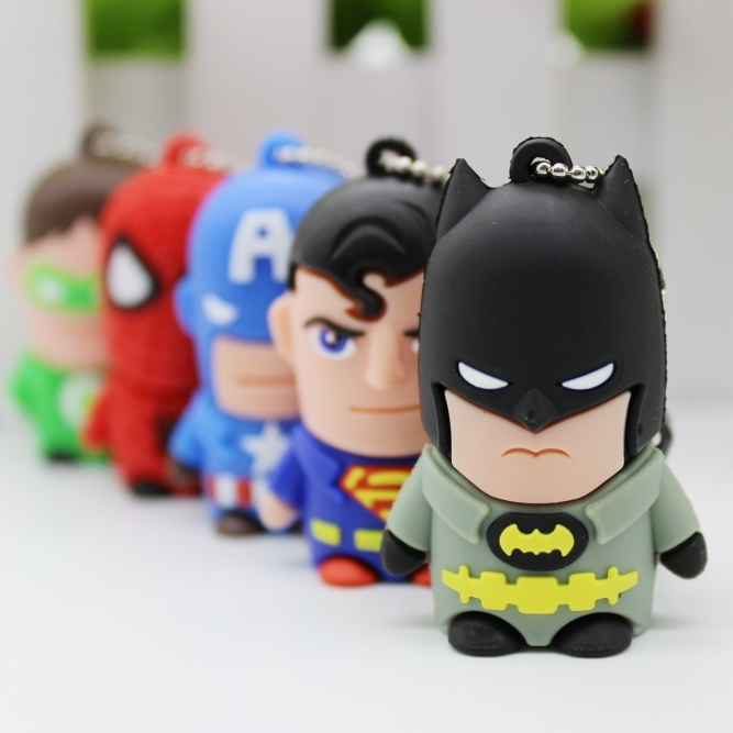 Cartoon 2.0 Super Hero Unions Batman Captain USB Flash Pen Drive 32gb 64gb 128gb Memory Stick Pendrive 1tb 2tb Usb Stick Gift