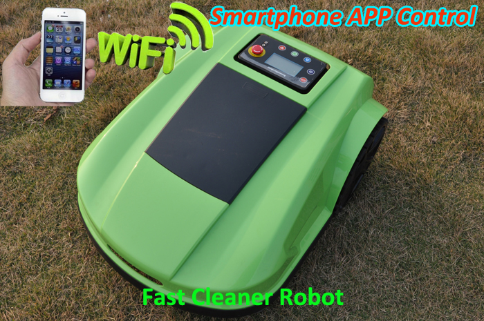 Free Shipping 4th Generation Robot Lawn Mower S520 With Smartphone App Wireles Control+Water-Proofed Charger+Electronic Compass newest wifi app smartphone wireless remote control lawn mower robot with water proofed charger range subarea compass functions