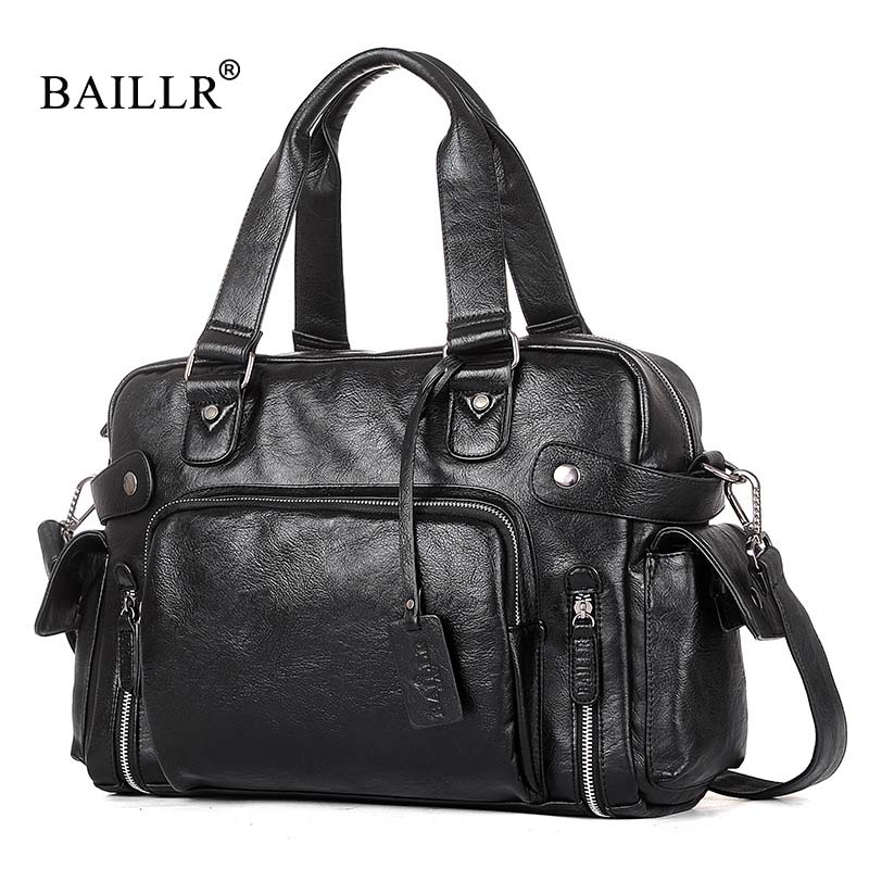 BAILLR Brand Designer Handbags Men's Casual Tote For Men Large-Capacity Portable Shoulder Bags high quality Travel Bags Package kadell unisex handbags for men large capacity portable shoulder bags travel bags package soft pu leather retro bags women