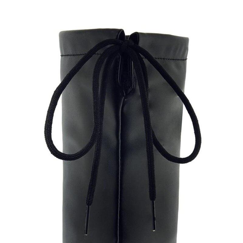 Sexy Correa Las Punta 46 Conciso Tamaño Tacones Botas 33 black Sobre 2 Lebaluka Calzado Redonda Black La 1 De Invierno Cruz Rodilla Zapatos Mujeres fZxw0a