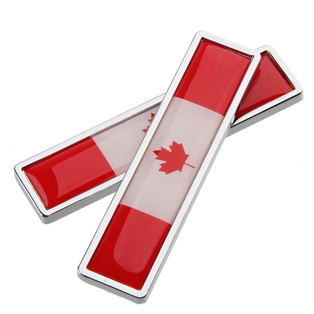 Car Sticker Fender Side Badge Durable Canadian Flag Logo for Honda Civic Toyota Corolla VW Golf Auto Styling