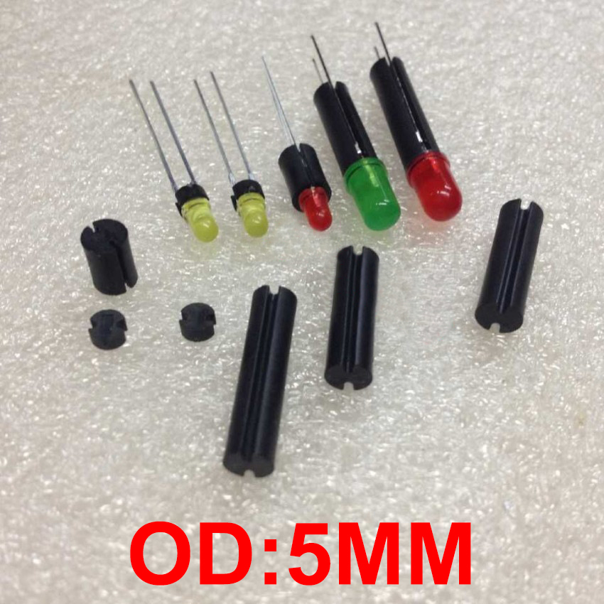 1000pcs 5*17 5x17 5*18 5x18 5x19 5*19 OD*L Black Dual Pit Groove Round LED PCB Mount Support Pillar Isolation Column Hood Spacer 17 5
