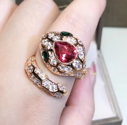 New 925 sterling silver cubic zircon  rings rose gold Color jewelry Finger rings for women-in Rings from Jewelry & Accessories    1