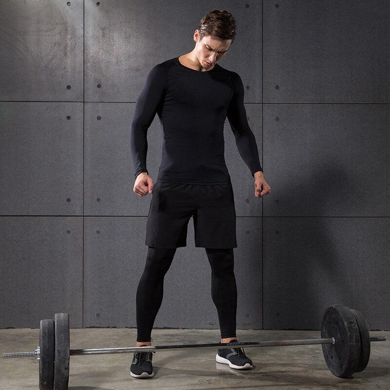 2017 Winter Outdoor Quick Dry Lauf Sets Männer Compression Sport Anzüge Jogging Basketball Strumpfhosen Kleidung Gym Fitness Sportswear - 5