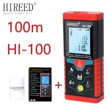 HIREED laser distance meter 40M 120M 100M Digital rangefinder trena laser tape range finder build measure device ruler test