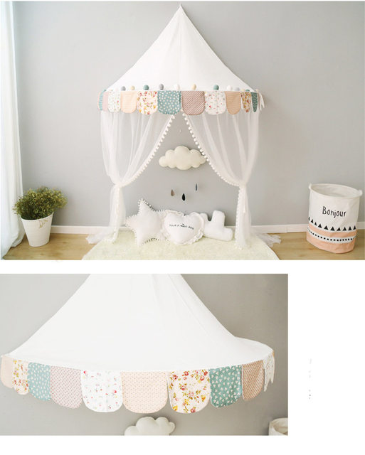Nordic Baby Canopy Beds Kids Play Tent Princess Pink Sky Blue Playhouse  Tipi Enfant Children Room Decoration Childrenu0027s Day Gift
