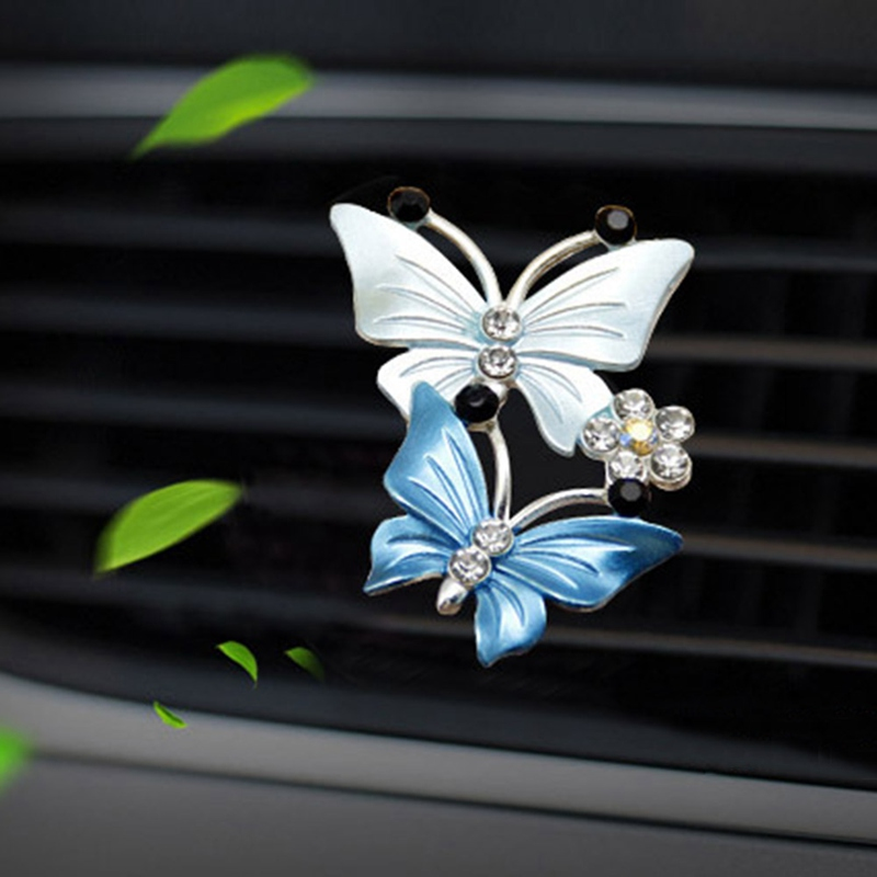 Car Ornamrnt Perfume Air Conditioner Outlet Clip Car-styling Butterfly Fragrance Accessories Blue Car Air Freshener Decoration