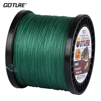 Goture Own Brand 1000m Braided Multifilament Fishing Line Strong Cord Carp 12lb 50lb PE Material Fishing