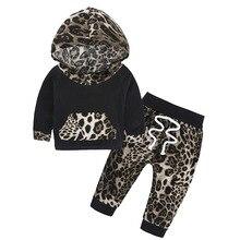 Детские сказки, 2017 Новый осенний костюм, одежда для маленьких девочек, два комплекта одежды для маленьких девочек с леопардовым принтом