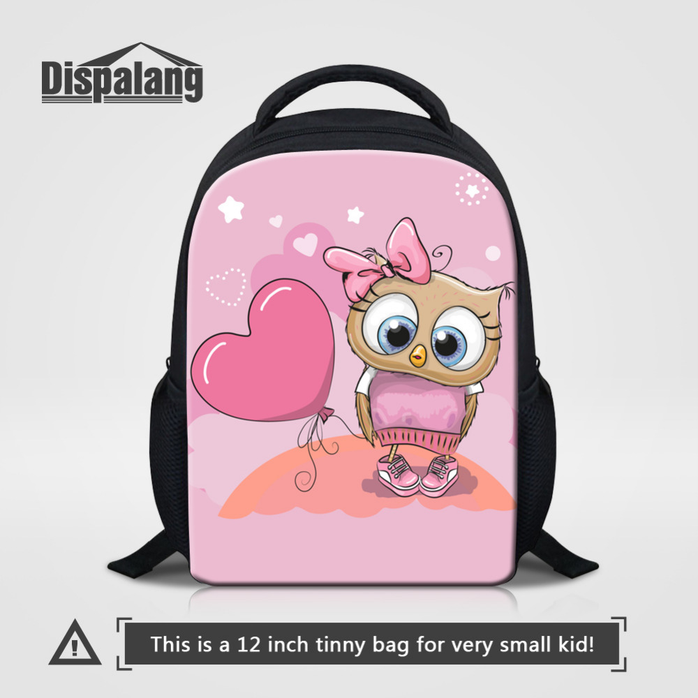 Dispalang Cute Owl Kids School Bag Lovely Cartoon Animal Print ... 1f4967ce89ed1