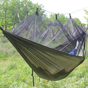 Image 5 - خفيفة المظلة أرجوحة الصيد البعوض صافي Hamac السفر مزدوج شخص Hamak للتخييم أثاث خارجي أرجوحة