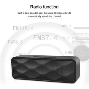 Image 3 - Mini altavoz portátil Bluetooth columna bajo Subwoofer soporte FM Radio AUX USB TF tarjeta HIFI altavoz portátil para computadora iPhone
