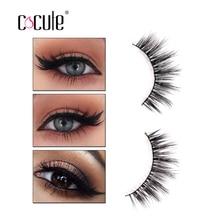 f37012b753b Cocute Sexy 3D Mink Fake Eyelashes 1 Pair Black Dense Eye Lashes Top  Eyelashes for