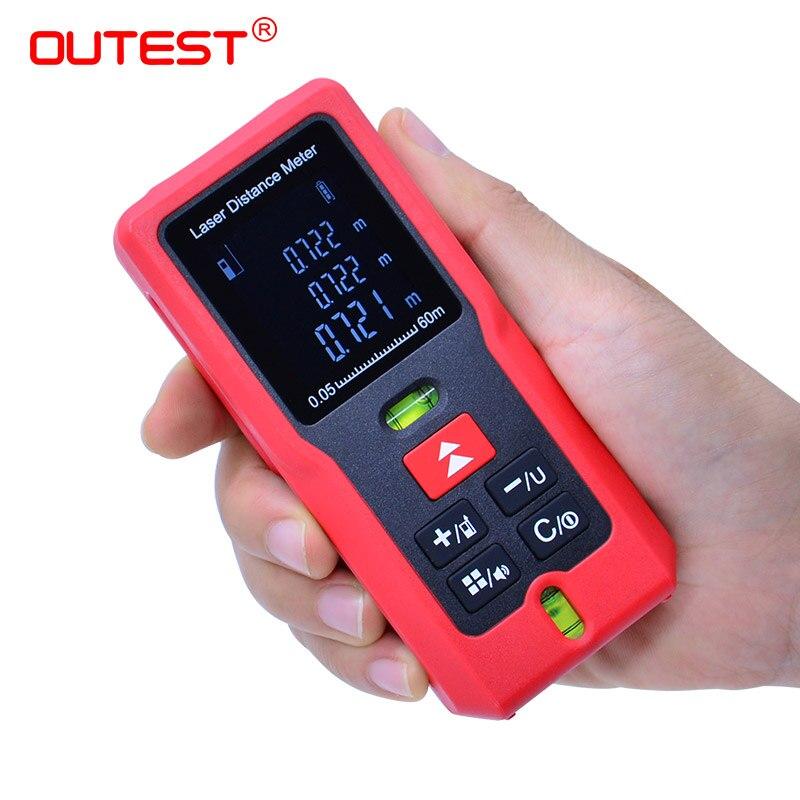OUTEST Laser-entfernungsmesser Digital Laser-distanzmessgerät 40/60/80/100m Laser Maßband Diastimeter Test werkzeug Einzigen Messung