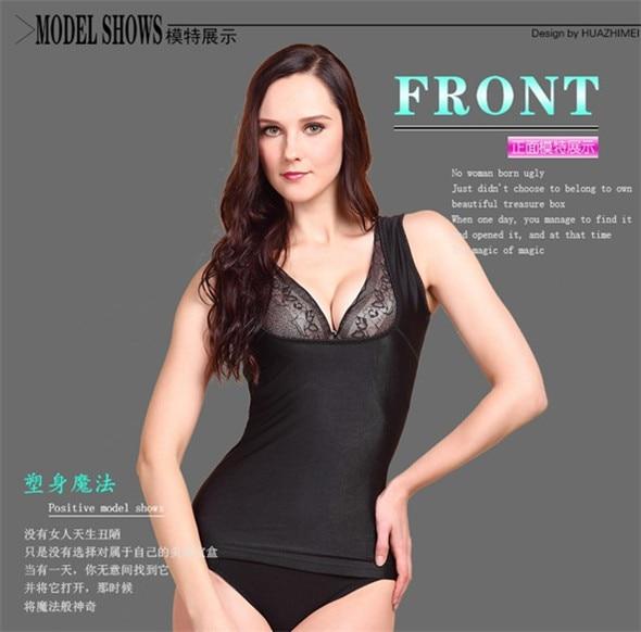 Double-deck Thickening Women's Model Body Underwear Winter shapers Thermal underwear Vest Tank Tops Chinlon Flocking