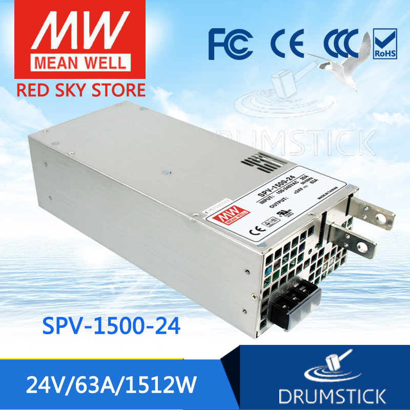 цена на Advantages MEAN WELL SPV-1500-24 24V 63A meanwell SPV-1500 24V 1512W Single Output Power Supply [Real7]