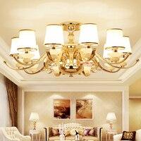 Классические потолочные светильники Номер в отеле верхнего света гостиная спальня стеклянным потолком лампы модные Ресторан светодиодные