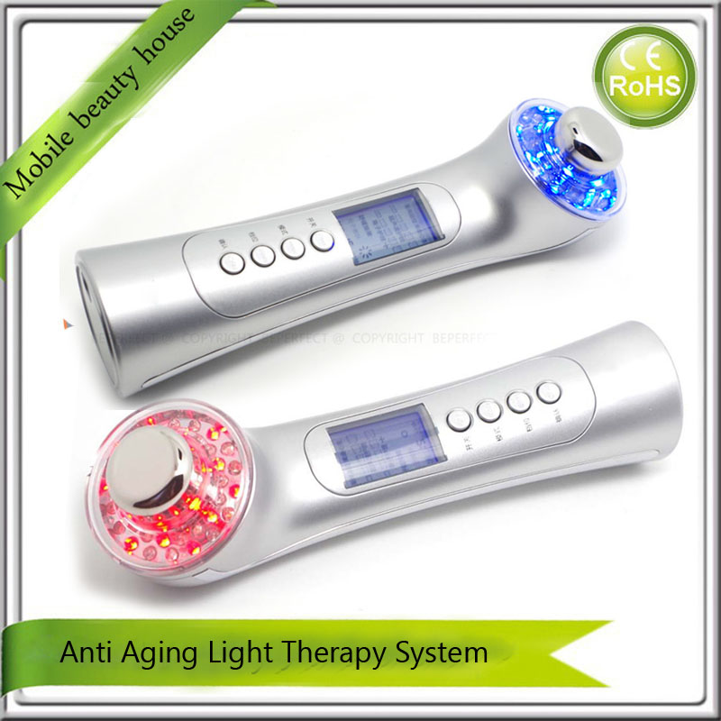High Frequency Ultrasound Ultrasonic Ion Led Light Photon Therapy Skin Tightening Face Lifting Vibration Beauty Massager Machine mini portable usb rechargeable ems rf radio frequency skin stimulation lifting tightening led photon rejuvenation beauty device